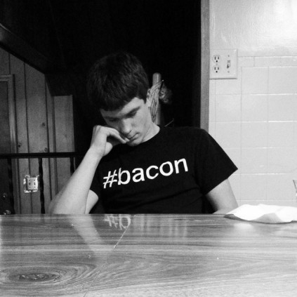 My nephew and his #bacon shirt. Definitely my nephew.