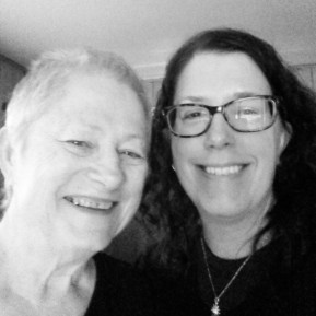 My mom and me. Her first selfie!