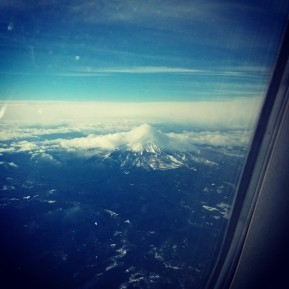 Mt. Hood on the flight home.