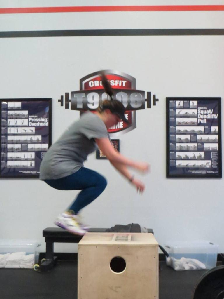 I'm impressed as hell that I can do box jumps. Seriously.