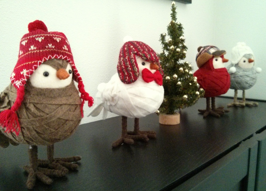 These birds are my favorite Christmas decorations.