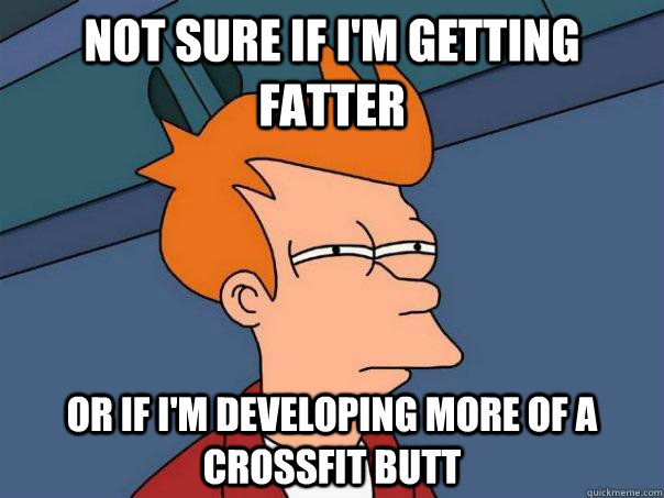Pretty sure it's due to the wide variety of squats we do EVERY DAY either before the WOD or during the WOD that is the problem.