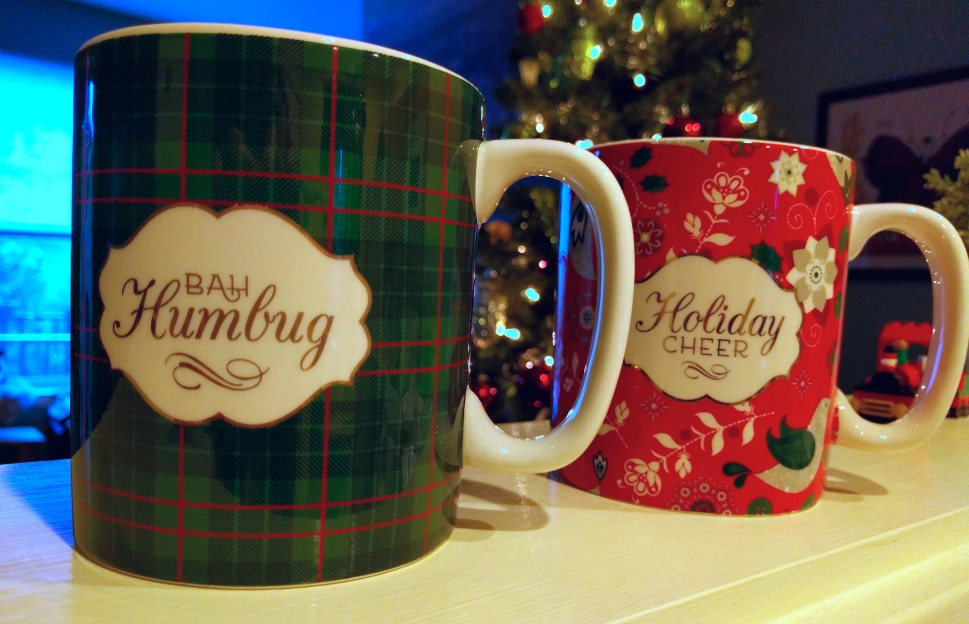 Yes, these are my mugs. Guess which one I use?